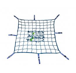GeZu Impex ® Steigernet met spanband, 2,00 x 5,00 m, blauw