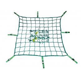 GeZu Impex ® Steigernet met spanband, 2,00 x 10,00 m, groen
