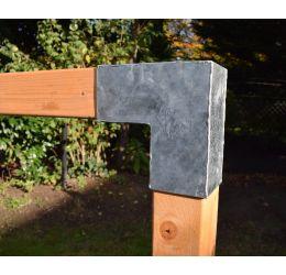 GeZu-Impex ® Paalhoek,Hoekverbinding, paviljoenhoek L-model voor hout 90x90 mm