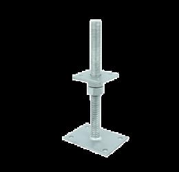 Paalsteun verstelbaar 24x300 mm, thermisch verzinkt, Paalhouder verstelbaar.