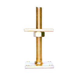 GeZu-Impex ® Verstelbare paalhouder, carport voetplaat, Instelbaar paalvoet, Moermaat  M24, Verstelbaar in hoogte tot 200mm, Electrolytisch verzinkt staal