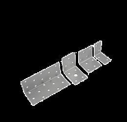 GeZu Impex ® Hoekverbinder / verbindingshoeken staal verzinkt - 100x40x40x 2 mm Versterkingshoeken/ hoekijzers voor balkverbinding / houtverbinding / Hoekverbinders