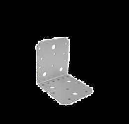 GeZu Impex ® Hoekverbinder / verbindingshoeken staal verzinkt - 105x105x90x2.5 mm Versterkingshoeken/ hoekijzers voor balkverbinding / houtverbinding