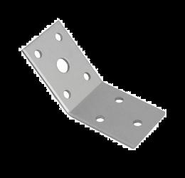 GeZu Impex ® Hoekverbinder 135 ° 50x50x35x2.5 mm verzinkte plaat, Versterkingshoeken/ hoekijzers voor balkverbinding / houtverbinding