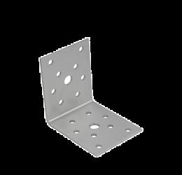 GeZu Impex ® Hoekverbinder / verbindingshoeken staal verzinkt - 70x70x55x2.5 mm Versterkingshoeken/ hoekijzers voor balkverbinding / houtverbinding