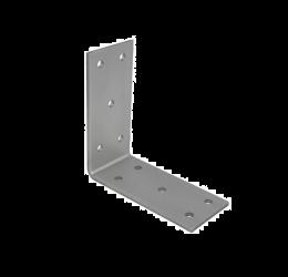 GeZu Impex ® Hoekverbinder / verbindingshoeken staal verzinkt - 90x90x40x2.5 mm Versterkingshoeken/ hoekijzers voor balkverbinding / houtverbinding