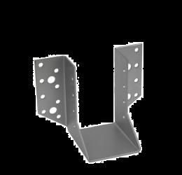 GeZu Impex® Balkdrager/Raveeldrager met buiten staanden flenzen, 60x100x2mm, Zinkplaat