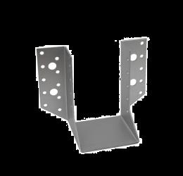GeZu Impex® Balkdrager/Raveeldrager met buiten staanden flenzen, 80x120x2mm, Zinkplaat