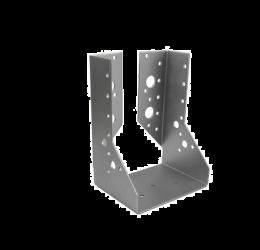 GeZu Impex® Balkdrager/Raveeldrager met binnen staanden flenzen, 100x140x2mm, Zinkplaat
