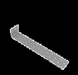 GeZu Impex ® Hoekverbinder 260x40x2 mm, gegalvaniseerde plaat/binnen hout connector / Beton platstaal anker
