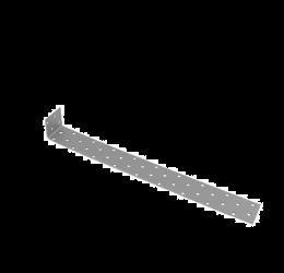 GeZu Impex ® Hoekverbinder 360x40x2 mm, gegalvaniseerde plaat/binnen hout connector / Beton platstaal anker
