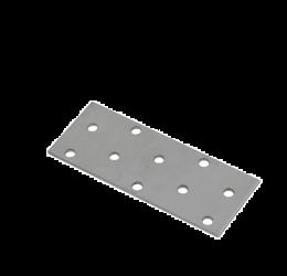 GeZu Impex ® Platte Verbinders 100x40x2 mm / Binnen hout verbinder / PlatteIjzerplaat / Gegalvaniseerde plaat.