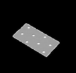 GeZu Impex ® Platte Verbinders 80x40x2 mm / Binnen hout verbinder / PlatteIjzerplaat / Gegalvaniseerde plaat.