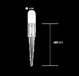 GeZu-Impex ® Paalhouder Rond Voor Rondhout Palisade 81x600 mm