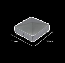 GeZu-Impex ® Paalkappen 71x71 mm Paalornament Thermisch Verzinkt voor Houten Palen