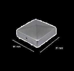 GeZu-Impex ® Paalkappen 91x91 mm, Paalornament Thermisch Verzinkt voor Houten Palen