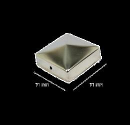 GeZu-Impex ® Paalkappen roestvrij staal 71x71 mm, Paalornament voor Houten Palen