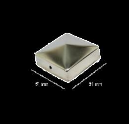 GeZu-Impex ® Paalkappen roestvrij staal 91x91 mm, Paalornament  voor Houten Palen