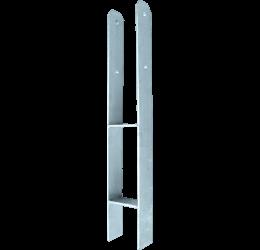 H-Pergoladrager 71x600x60x5 mm, H Paalhouder Schutting, H Anker Thermisch verzinkt