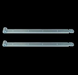 GeZu-Impex ® 2x Duimheng 700mm voor pen Ø16mm, verzinkt