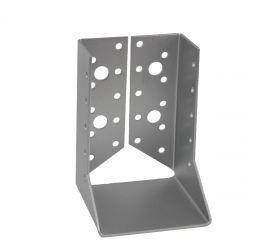 GeZu Impex® Balkdrager/Raveeldrager met binnen staanden flenzen, 80x120x2mm, Zinkplaat