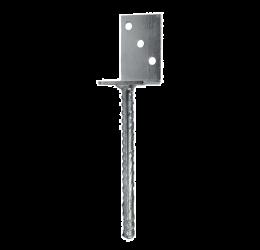GeZu-Impex ® L-vorm Paalsteun voor stellen in het beton, 80 mm breedte, Thermisch verzinkt