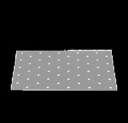 GeZu Impex ® Platte verbinders 100x200x2 mm /Geperforreerde plaat Verzinkt / Hout Verbinders Binnen / stalen verbindingsstukken /geperforeerde plaat plat ijzer