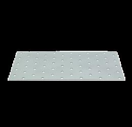 GeZu Impex ® Platte verbinders 100x240x2 mm /Geperforreerde plaat Verzinkt / Hout Verbinders Binnen / stalen verbindingsstukken /geperforeerde plaat plat ijzer