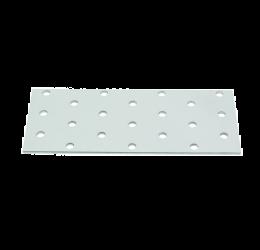 GeZu Impex ® Platte verbinders 60x140x2 mm /Geperforreerde plaat Verzinkt / Hout Verbinders Binnen / stalen verbindingsstukken /geperforeerde plaat plat ijzer