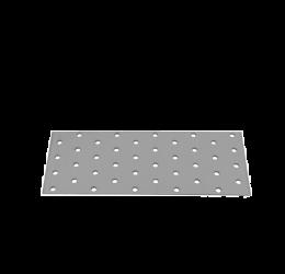 GeZu Impex ® Platte verbinders 80x200x2 mm /Geperforreerde plaat Verzinkt / Hout Verbinders Binnen / stalen verbindingsstukken /geperforeerde plaat plat ijzer