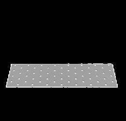 GeZu Impex ® Platte verbinders 80x300x2 mm /Geperforreerde plaat Verzinkt / Hout Verbinders Binnen / stalen verbindingsstukken /geperforeerde plaat plat ijzer