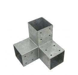 Paalhoek,Hoekverbinding, paviljoenhoek voor hout 90x90 mm, voor 3 balken