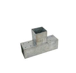 GeZu-Impex ® Paalhoek,Hoekverbinding, paviljoenhoek T-model voor hout 90x90 mm
