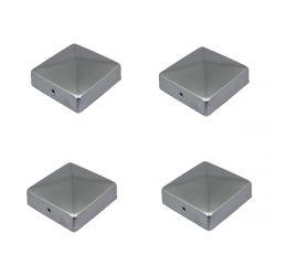 4 stuks Paalkappen 71x71 mm Paalornament voor Houten Palen, Thermisch Verzinkt, GeZu-Impex