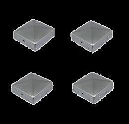 4x Paalkappen 91x91 mm, Paalornament Thermisch Verzinkt voor Houten Palen
