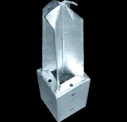 GeZu-Impex ® Paalhouder 71x71x350 mm voor tuinschermen in beton