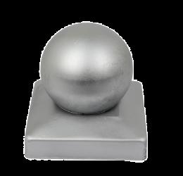 GeZu-Impex ® Paalkap met bol 91x91 mm, Thermisch Verzinkt voor Houten Palen