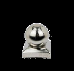 GeZu-Impex ® Paalkap met bol 71x71 mm, roestvrij staal voor Houten Palen