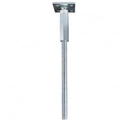 GeZu-Impex ® Speciale verstelbare paalhouder 80 x 80 mm, verstelbare paalhouder om in beton te plaatsen
