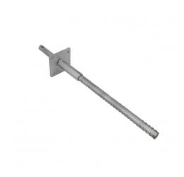 GeZu-Impex ® Verstelbare paalsteun 110 x 110 mm  om in beton te plaatsen, hoogte 500 - 560 mm, pen van 150 mm