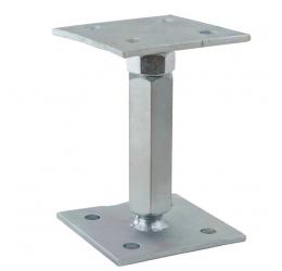 Verstelbare Paaldragers 70x70 mm, Instelbaar bereik 140-190 mm