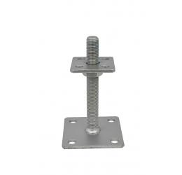 Verstelbare Paaldragers 70x70 mm, Instelbaar bereik 110-160 mm