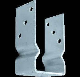 U-pergoladrager 71x150x60x4 mm, paalhouder opschroefbaar, Roestvrij staal