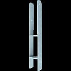 H-Pergoladrager71x600x60x5 mm, H Paalhouder Schutting, H Anker Thermisch verzinkt