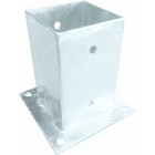 GeZu-Impex ® Paalhouder op plaat 81x150 mm Voetsteun Paalvoet voor Vierkante Houten Palen