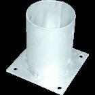 GeZu-Impex ® Voetsteun paalhouders 101x150 mm paalvoet voor rondhouten palen