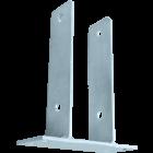 GeZu-Impex ® U-pergoladrager 121x200x50x60x4 mm, paalhouder op plaat