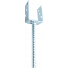 GeZu-Impex ® U-pergoladrager paalhouder 71x300x60x4 mm gerobbelde lange pen, Betonanker van geribbelde Staaf